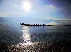 Boat trip through the shining waters of Inle Lake in Myanmar (Al Varty) Tags: boat trip shining waters inlelake myanmar shine
