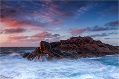 Canal Rocks (Maciek Gornisiewicz) Tags: ocean sunset seascape west clouds canon landscape photography evening coast canal rocks dusk indian south tripod australia filter shore western maciek 2014 1635mm darkelf gornisiewicz 5diii