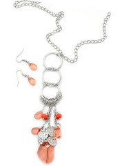 Sunset Sightings Orange Necklace P3120A-5
