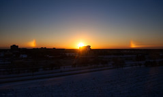 sun dog halo sunrise