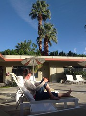 Mid-century modern poolside (This Lighthouse Says) Tags: travel pool modern hotel palmsprings palm ipad