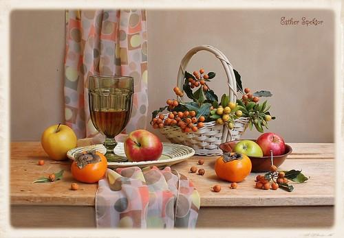 Autumnal Polka Dots