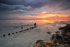 : Low Tide : (fiz_zero) Tags: sunset sky holiday art beach nature beautiful clouds photography landscapes nikon rocks seascapes artistic background awesome explore lowtides greatphotographers explored nikon1024mm nikon1024mmf3545 iamnikon nikond7100