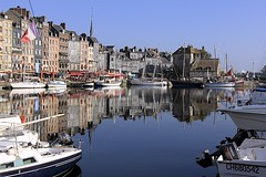 The Vieux Bassin (oxfordblues84) Tags: europe honfleur france normandy uppernormandy boats harbor harbour blue water sky reflections beautiful beautifulcapture buildings architecture honfleurharbour roadscholar roadscholartour thevieuxbassin oldport oldporthonfleur honfleuroldport lalieutenance 5photosaday reflection
