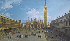 Canaletto - View of Piazza San Marco (petrus.agricola) Tags: venice canal view antonio giovanni canaletto vedute veneziane