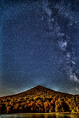 Milky Way Over the Mountain (joshuacruse) Tags: blue moon mountain mountains fall nature leaves night canon way stars bedford star virginia space astro ridge lynchburg galaxy astrophotography va otter 5d astronomy peaks shenandoah milky