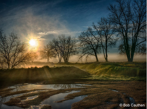 Photo - Bob Cauthen - Misty Morning Sunrise at Sawhill Ponds - 2nd Place - Scenery