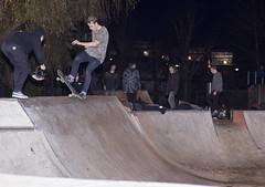 Nose Blunt Sliding (KyleFletcher) Tags: urban night canon skateboarding flash rob skate extremesports winchester speedlight highspeed actionsports 1401