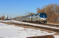 The Empire Builder 8(4) - Minneapolis Junction (bkays1381) Tags: minnesota december amtrak empirebuilder gep42dc amtk8 theempirebuilder amtk96 amtrak8