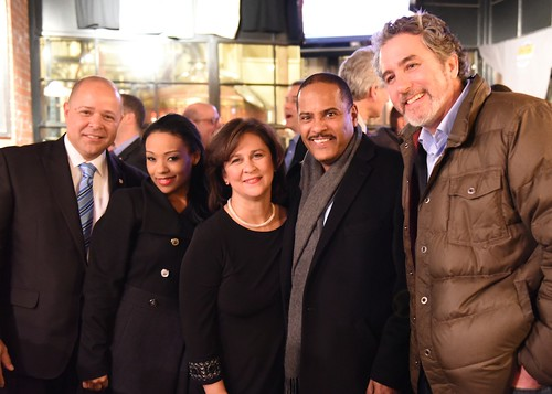 Secretary of State Nellie Gorbea at her Inauguration Reception at Union Station Brewery. Photo by Elaine Fredrick.
