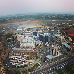One Airport Square photo by David Kwamena Bolton @kwamenabolton http://instagram.com/p/zAyweLKIcX/ all rights reserved (CM f5.6) Tags: africa ghana phantom mca accra drone actis laurus mariocucinella oneairportsquare