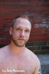 Daimeon (Levi Smith Photography) Tags: shirtless portrait hairy man cute male men brick guy fashion tattoo hair beard chest dude mans blond blonde mens