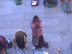 Pilgrims in Barkhor Square