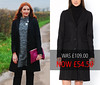 Sale: Masculine, Tailored Style Black Wool Overcoat (LA REDOUTE)