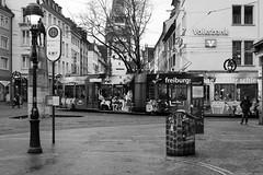 Experience in tram (doto2015) Tags: city monochrome germany deutschland blackwhite fuji tram fujifilm freiburg schwarzwald blackforest schwarz martinstor xseries weis x100 erlebnis bertoldsbrunnen strasenbahn erlebniswagen fujix100t