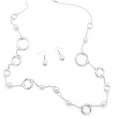 5th Avenue White Necklace P2610-2