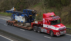 West of Scotland Heavy Haulage Scania T-Cab V8WOS, A90, Dundee 18th March 2015 (andyflyer) Tags: truck wagon dundee lorry a90 haulage roadtransport heavyhaulage hgg westofscotland roadhaulage tcab scaniatcab westofscotlandheavyhaulage westofscotlandhaulage v8wos