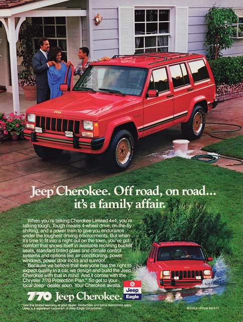 jeep 4x4 ad 1989 cherokee limited