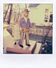 I Dreamed I Saw Vincent Van Gogh and the Lunch Lady in My Backyard (ricko) Tags: film polaroid blurry dream scan oof vincentvangogh lunchlady