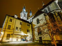Prague building (Chas56) Tags: travel bridge color colour reflection castle water night canon buildings river lights europe nightshot prague czechrepublic charlesbridge vltava praguecastle vltavariver canon7d