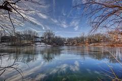 Hidden Lakes (Winter) (KC Mike Day) Tags: city winter house ice water frozen pond lakes neighborhood hidden missouri kansas