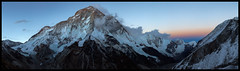 Dusk on Makalu  (8481m) (doug k of sky) Tags: park nepal panorama landscape doug panoramic national himalaya col makalu barun phedi mountainscapes sherpani kofsky