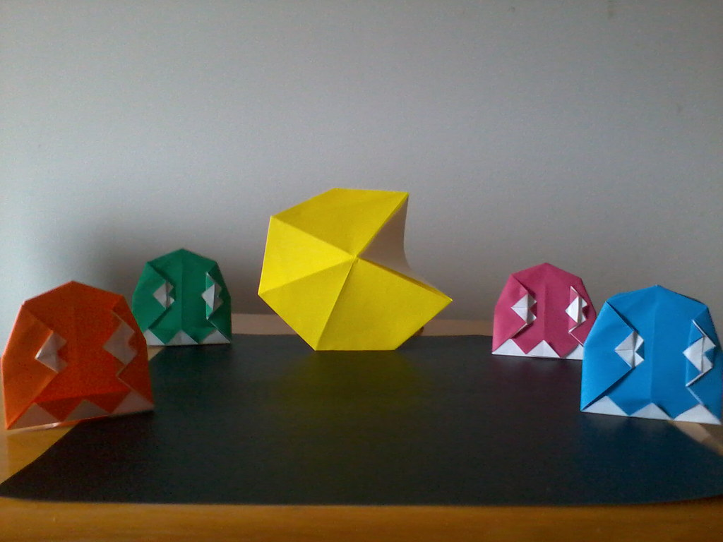 The worlds best photos of origami and pac flickr hive mind pac man ghost boy tags man by origami ghost pac jeuxipadfo Choice Image