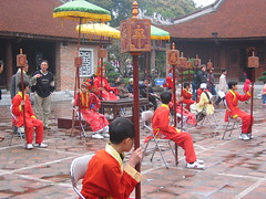 Human Chess at Temple of Literature in Hanoi