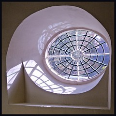 Oval Window... (explored) (Catwards - it's a struggle keeping up) Tags: light window museum somerset