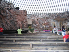Inside the Temppeliaukio Kirkko