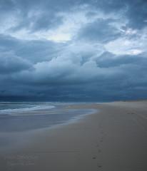 Stormy weather ((Virginie Le Carré)) Tags: ocean sea cloud mer storm france landscape sand cloudy sable atlantic nuage paysage vagues orage atlantique océan nuageux gironde vawes lasalie