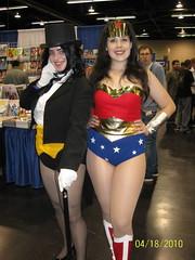 Zatanna & Wonder Woman Cosplay (Trinity All-Stars) Tags: world woman wonder justice costume comic cosplay wizard quinn ww anaheim con league 2010 kitt zatanna wwanaheim wwanaheim2010