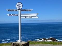 Cornwall - Land's End (Glass Angel) Tags: sea rocks cornwall landsend signpost