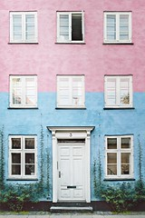 Ella y El. (www.juliadavilalampe.com) Tags: city pink blue love window copenhagen denmark europe lifestyle danmark scandinavian dinamarca