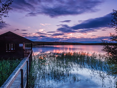 Return to Tutach (Stoates-Findhorn) Tags: 2016 boathouse highlands loch lochan reeds scotland sunset tutach twilight unitedkingdom