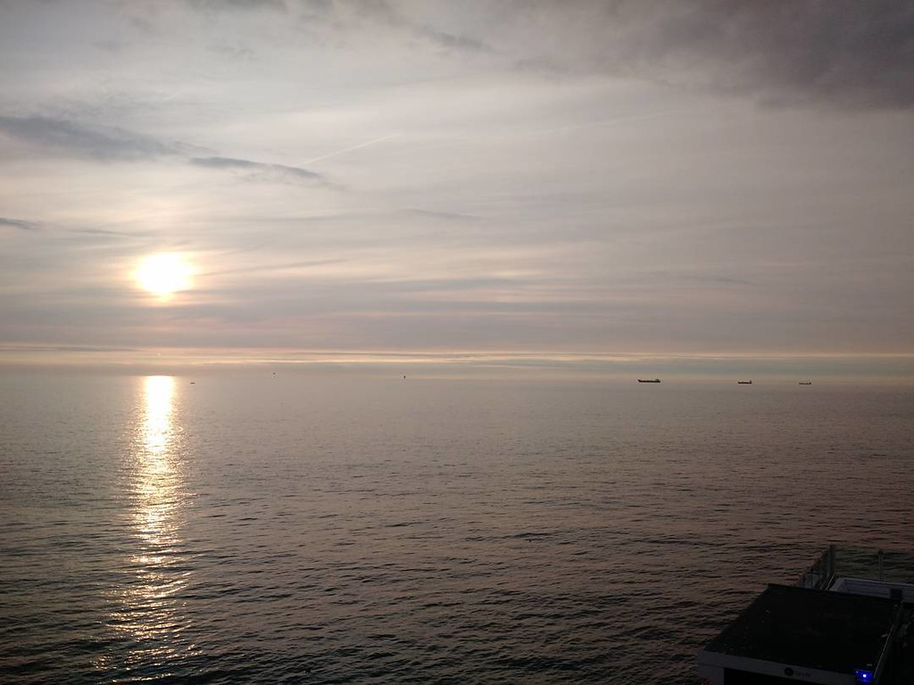 as far as the eye can sea