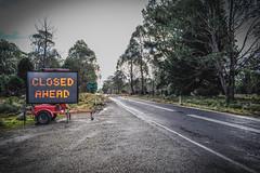 Fingerpost To Hellyer Gorge Tasmania (paulledger81) Tags: hellyergorge tasmania australia fingerpost waratah roadclosed barrier road roadworks