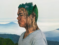 Imprisoned Tree (Charles Jayson Tajonera Bio) Tags: world life portrait people tree art nature photoshop doubleexposure surreal adobe age