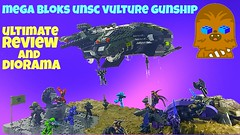 UNSC Vulture Gunship Diorama / Halo Mega Bloks / Ultimate Review (ChewyBricks HD) Tags: megablokshalo vulture gunship vulturegunship