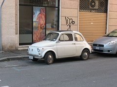 Fiat 500 (photobeppus) Tags: laspezia cars classic vintage fiat rear engine traction 500 motor vehicles transport streets cities urban photography
