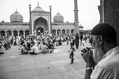 Prayer (arvindkhanna) Tags: travel traveldiary mosque prayer faith muslim jamamasjid delhi india heritage conservation blackwhite
