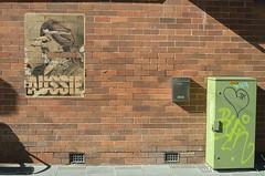 Ripped Aussie (Occasionally Focused) Tags: wall poster graffiti torn pentax justpentax singleinjuly2016 smcpdal35mmf24al brick rawtherapee