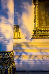 (9comeback) Tags: travel shadow tree church architecture asian thailand temple gold ancient asia faith religion buddhism chapel nakornsrithammarat