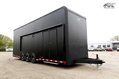 30' ALUMINUM STACKER - MATTE BLACK EXTERIOR PKG #beckercustomtrailers #stackerlift #escapedoor #atpflooring #fullfloorlift #racehauler #carhauler #aluminumlift #aluminumtrailer #customtrailer #stackertrailer #stacker #beckertrailers #atc #matteblack (Becker Custom Trailers) Tags: door black atc race aluminum escape lift floor atp full trailer custom flooring premium trailers matte becker stacker hauler carhauler