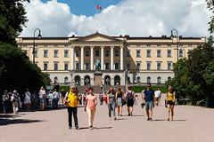 Oslo, Kungliga slottet (Michael Erhardsson) Tags: oslo norway norge juli resa sommar arkitektur plats 2016 kungligaslottet slott norska byggnad medborgare beskare storstad kungligt huvudstad sommartider sevrdhet dagtid