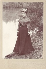 Lady By The Lake (ilgunmkr - Thanks for 4,000,000+ Views) Tags: cabinetcard lady younglady pretty victorianlady victorian beauty circa1900 explored