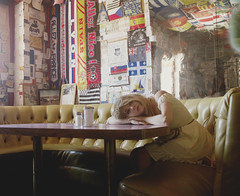 (yyellowbird) Tags: girl cari selfportrait diner bagdadcafe route66 california