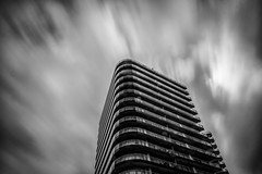 The Building (gibwheels) Tags: building movement clouds black white monochrome bw long exposure lee filter 10 stop gibraltar nikon d500