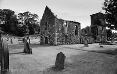 ScotlandJuneJuly2016-98230019 (Paul Burbidge) Tags: film united kingdom bw ilford scotland church ruins north berwick