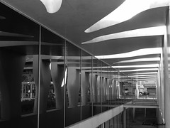 Muse Cocteau de Menton (LouRousselot) Tags: menton architecture nb vitre reflets perspective courbes